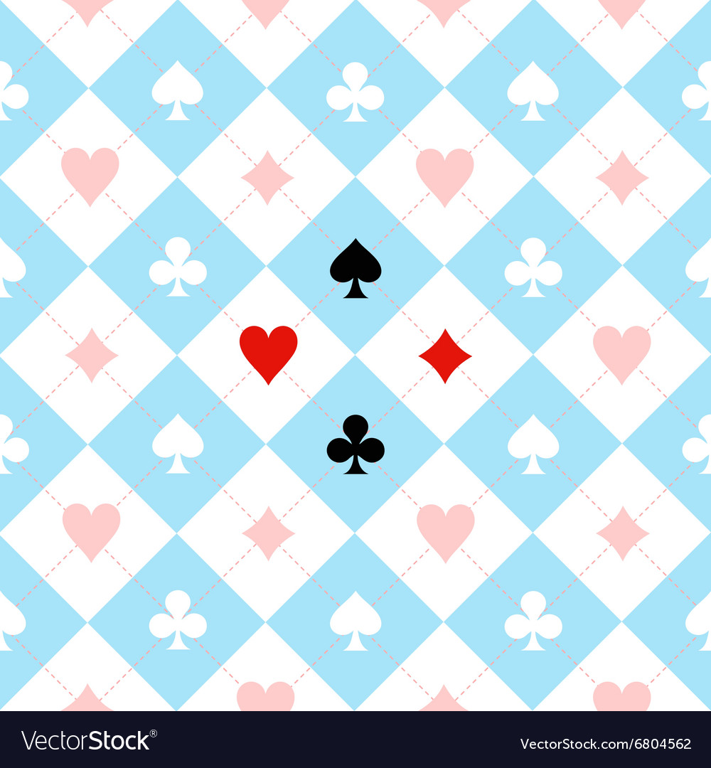 Card suit chess board blue black white vector
