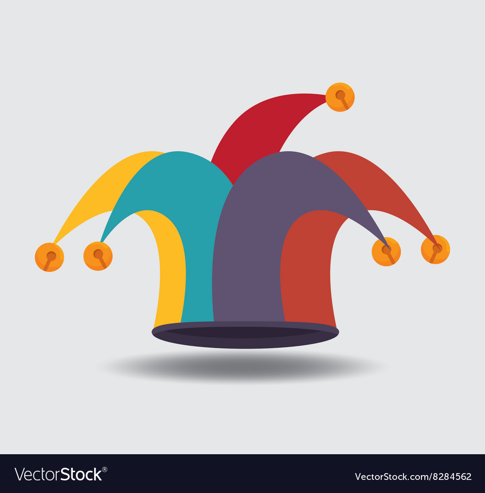 Jester hat design vector