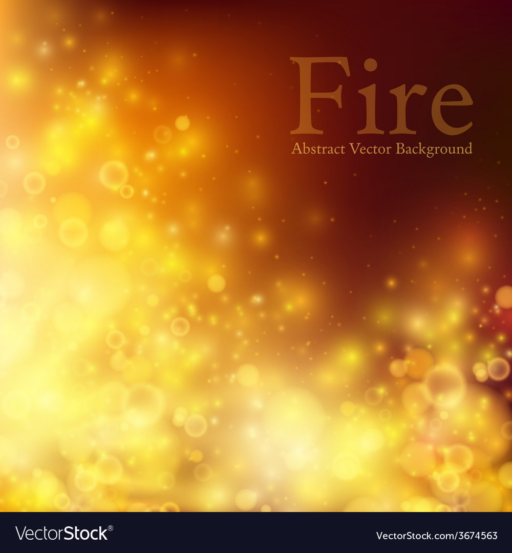 Abstract fire bokeh background vector