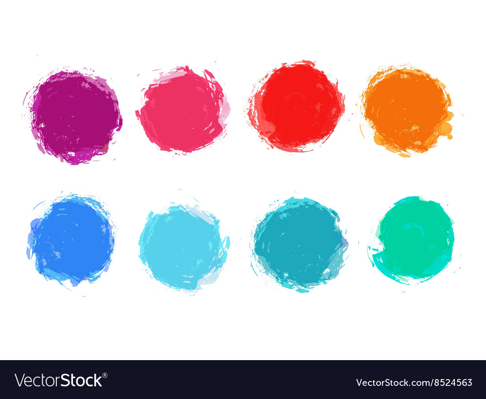 Hand painted stain set vector