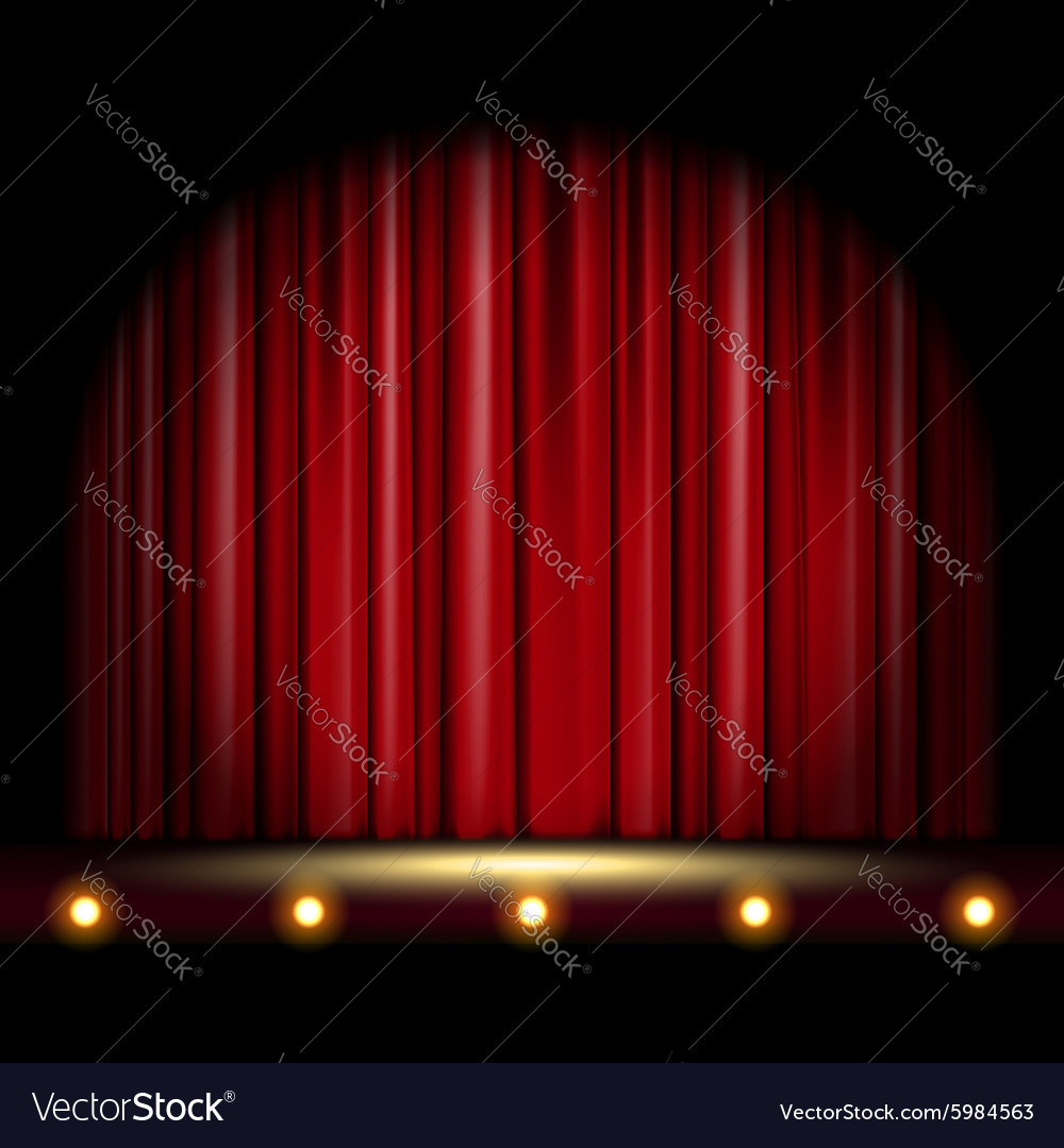 Scene with curtain vector