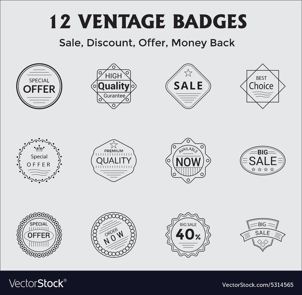 Salediscountoffermoneyback vector
