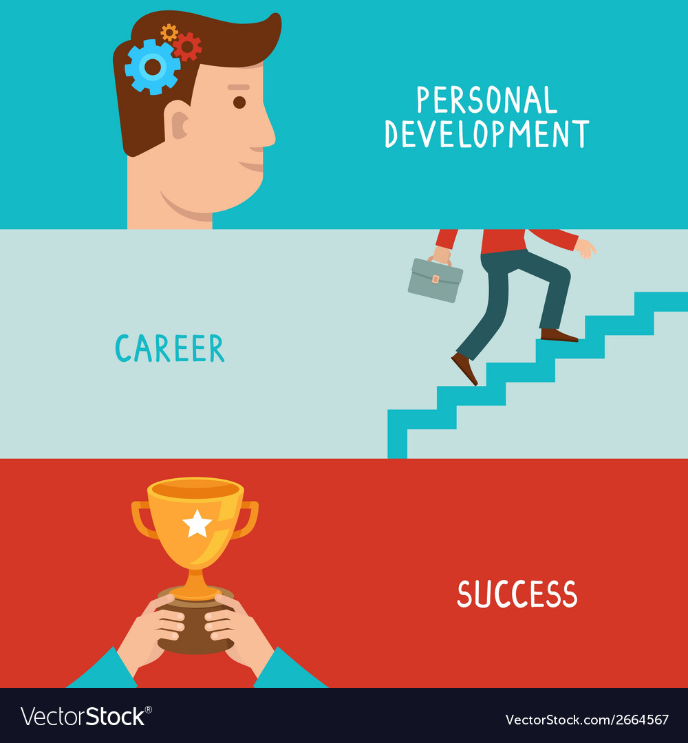Business success concepts in flat style vector