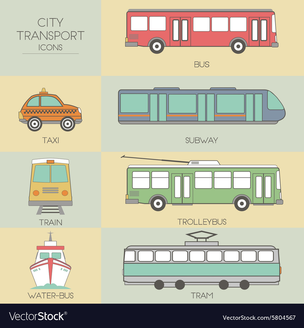 City transport vector