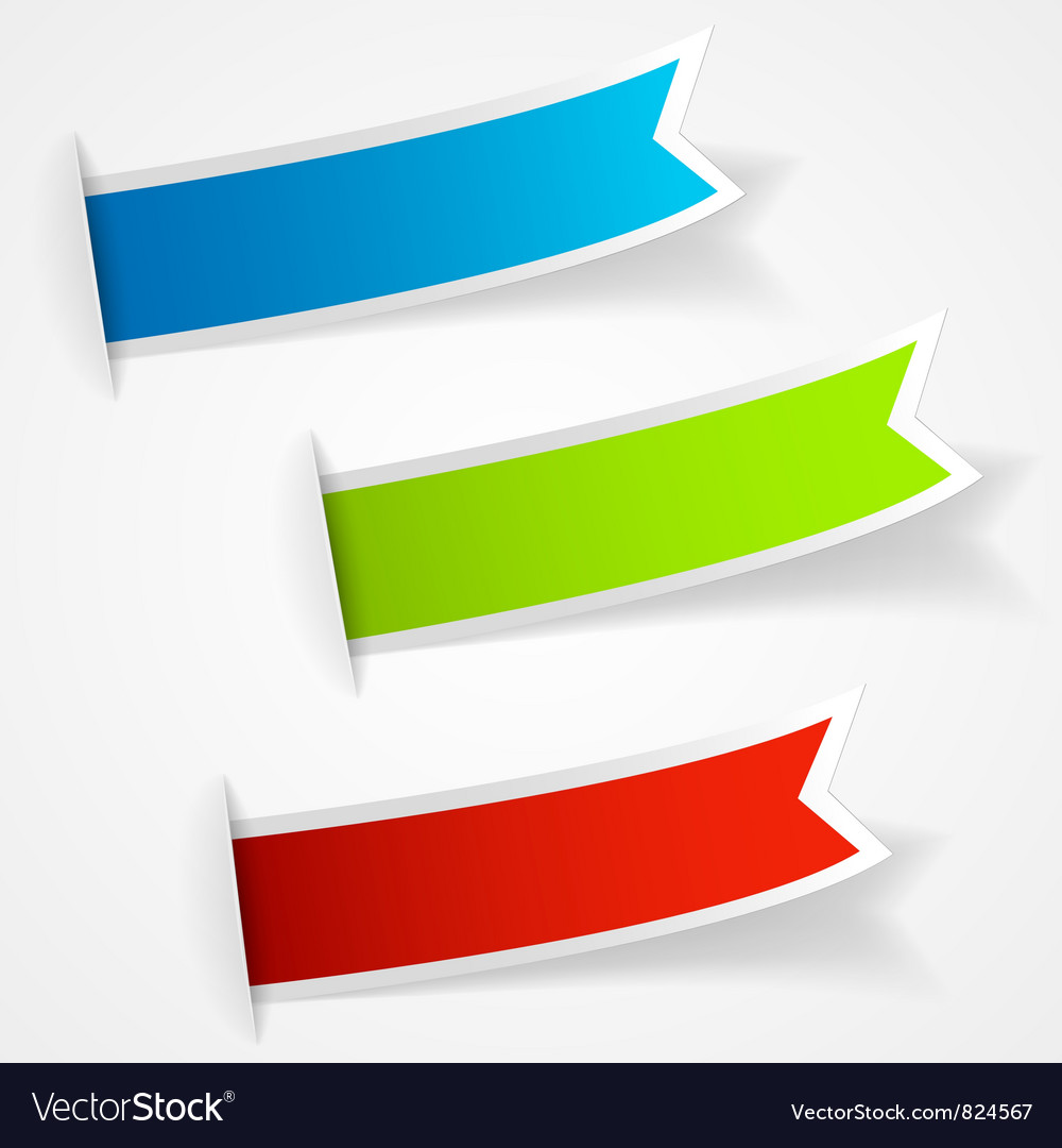 Set of multicolored sticker labels vector