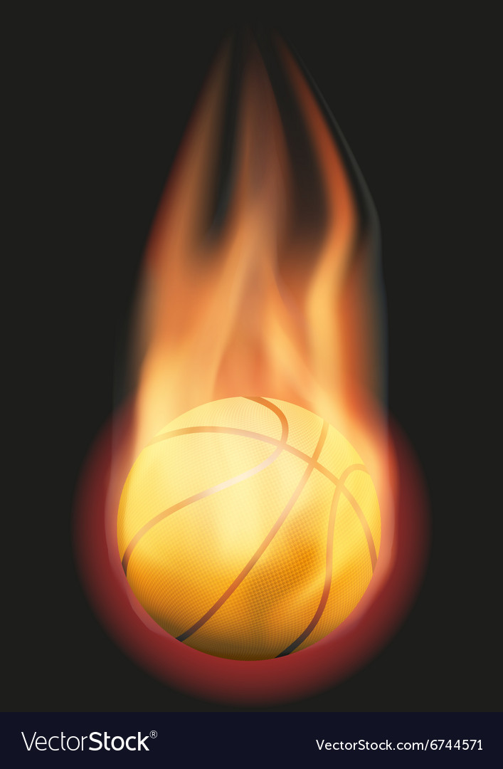Basketball ball with flame vector
