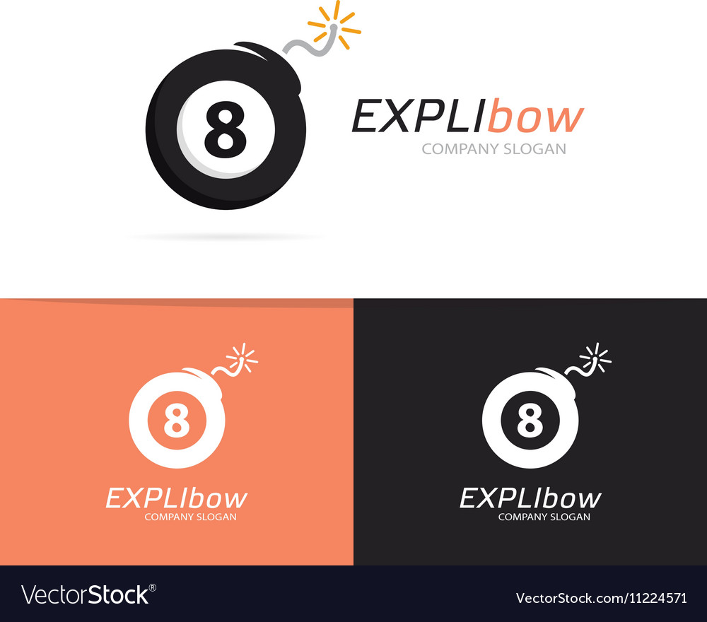 Logo combination of a billiard ball and vector