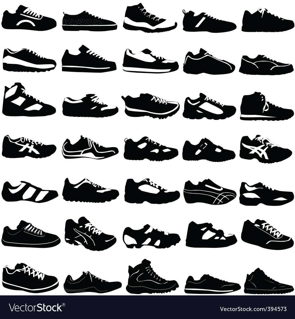 Fashion sport shoes vector