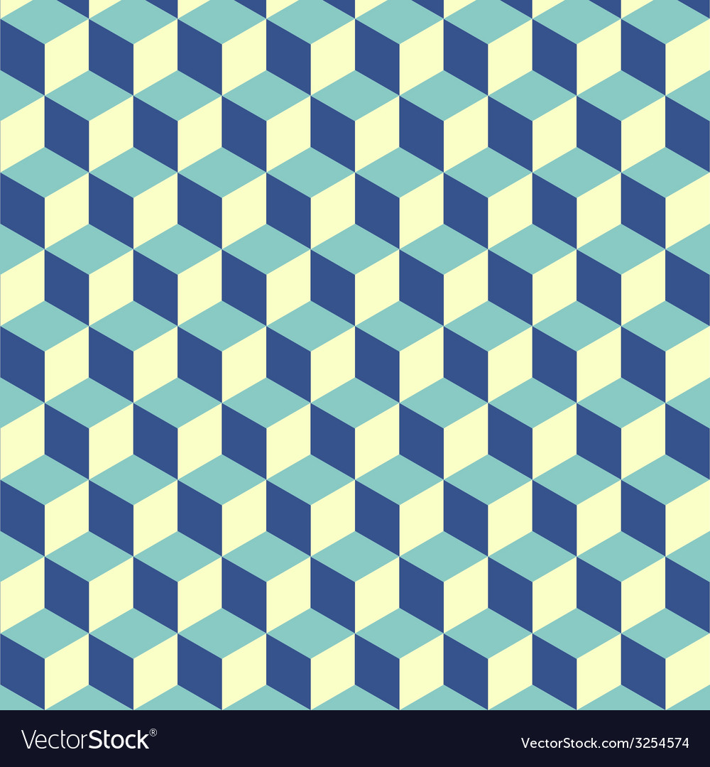 Abstract isometric cube pattern background vector
