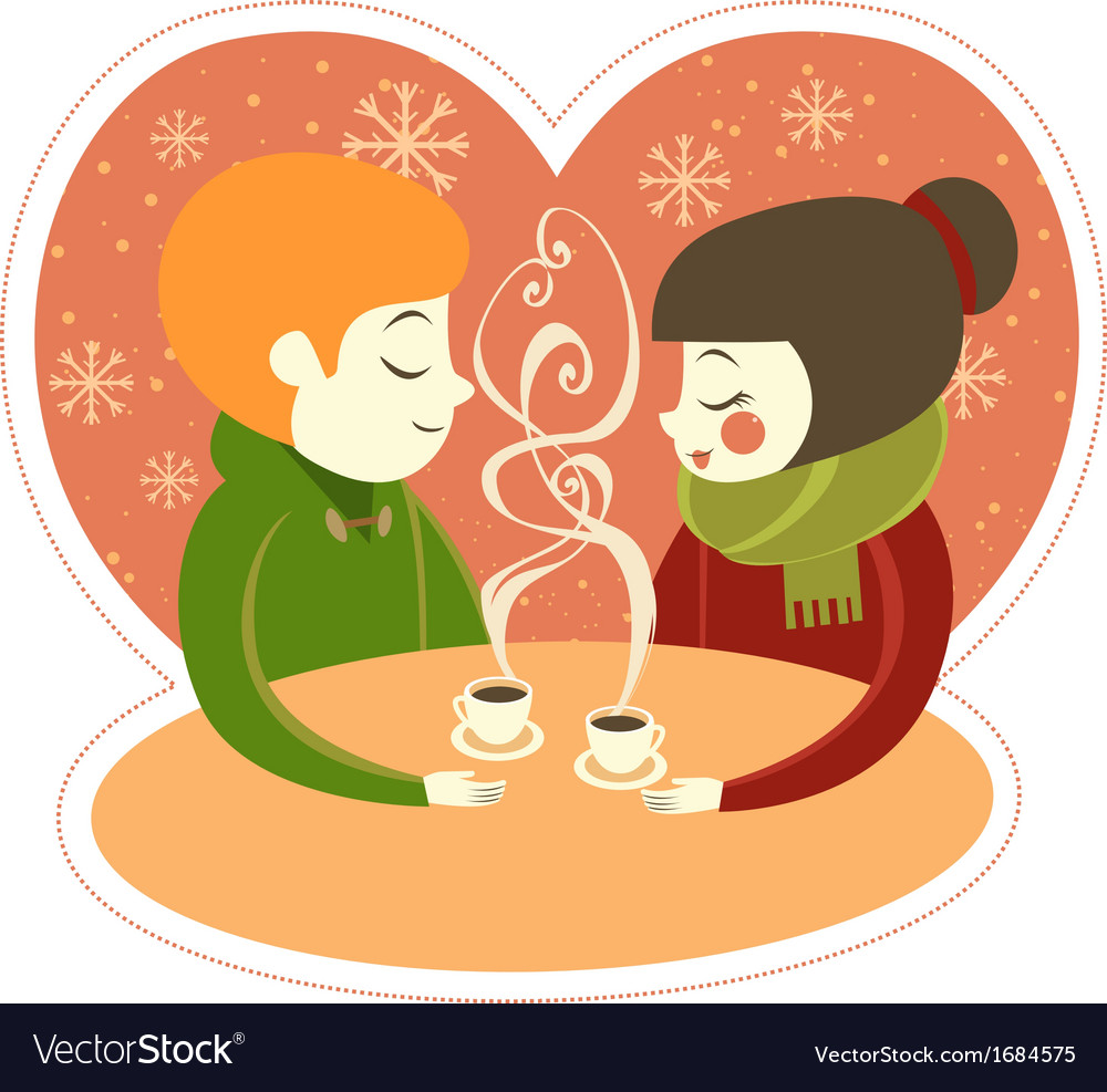 Coffee for two vector