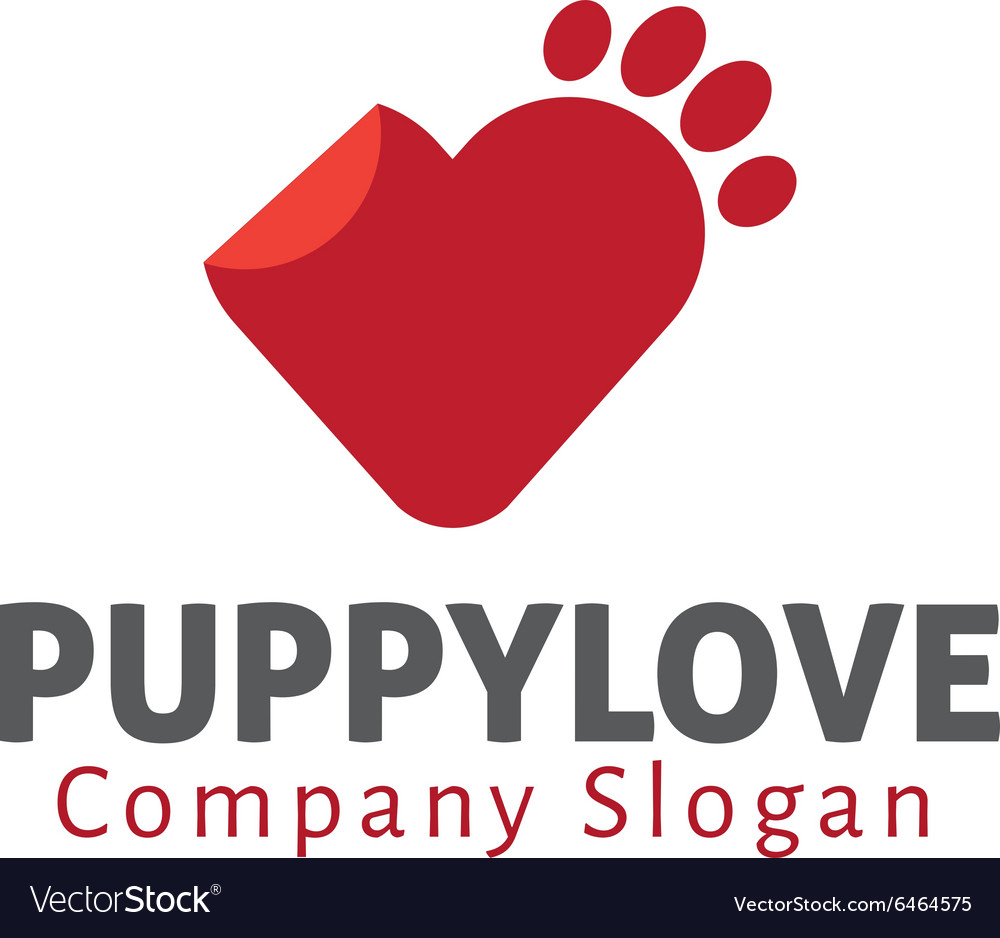 Puppy love design vector