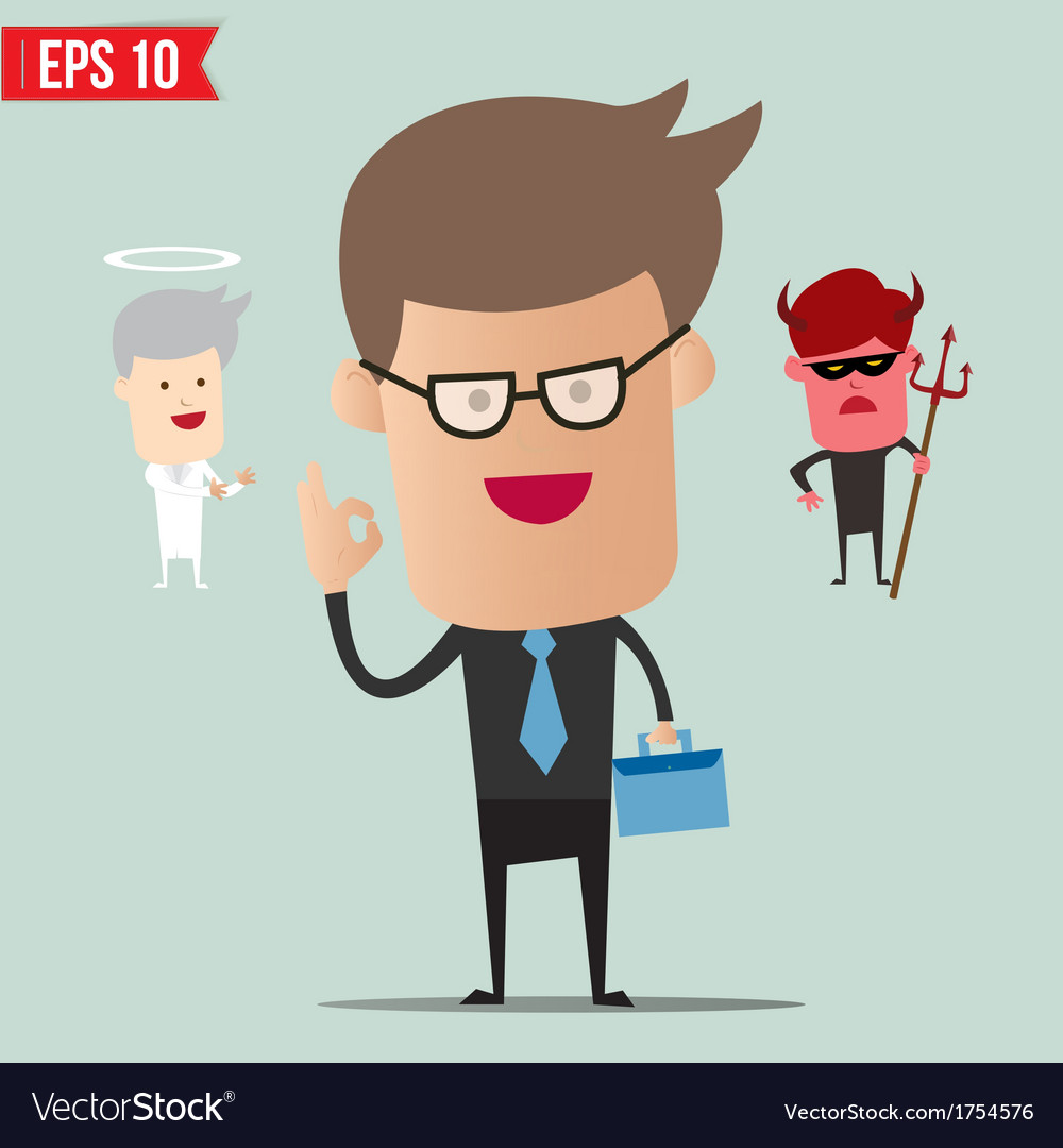 Business man select choice   eps10 vector