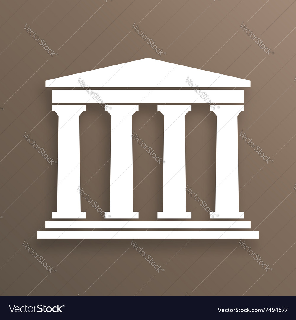 Architecture greek symbol vector