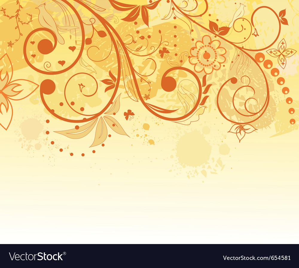 Grunge flower background element for design vector