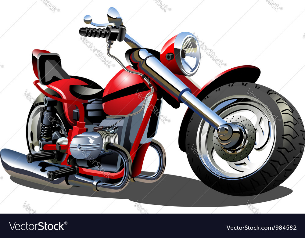 Cartoon motorcycle vector