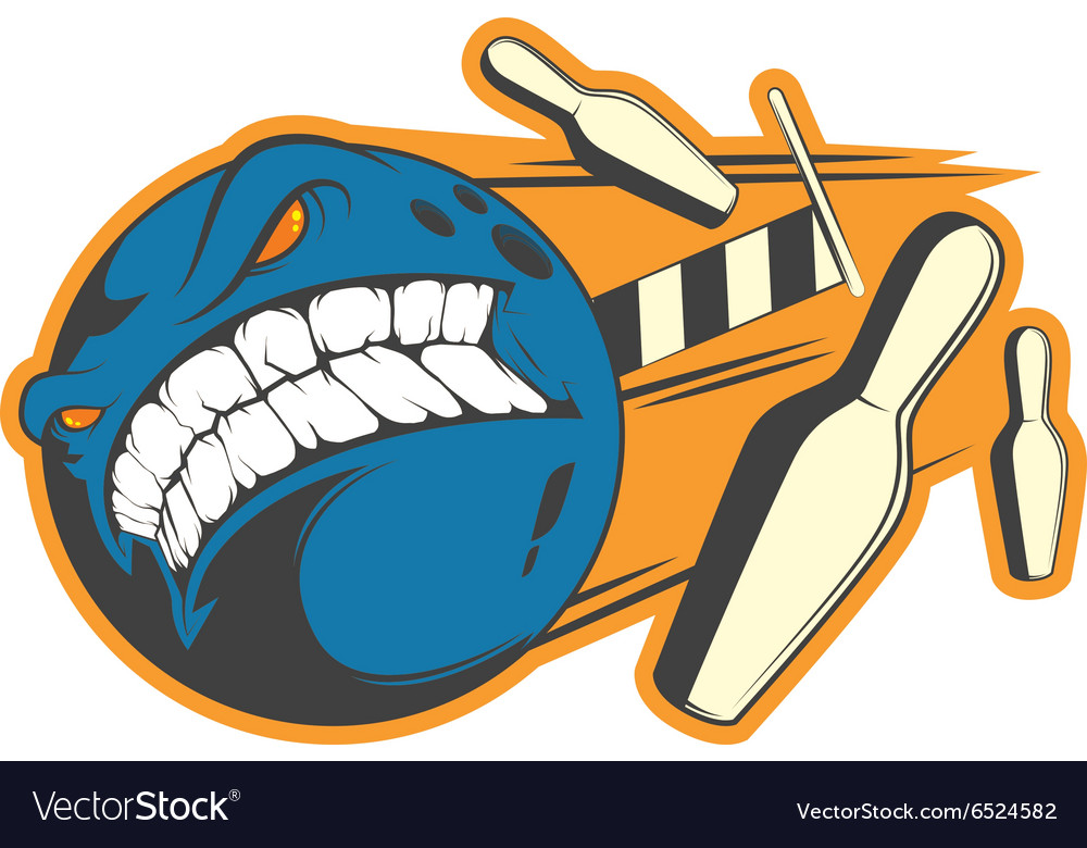 Crazy bowling sign vector