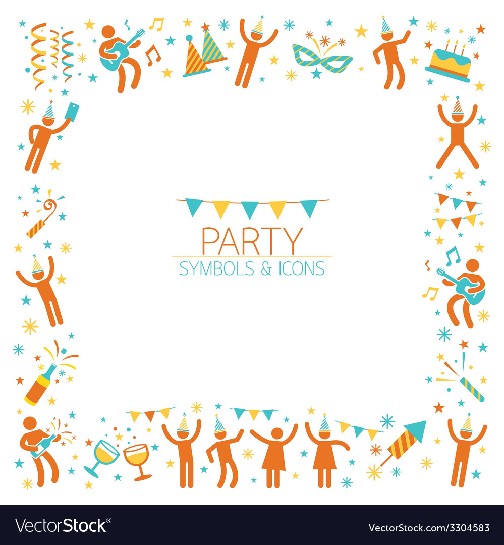 Party people frame vector