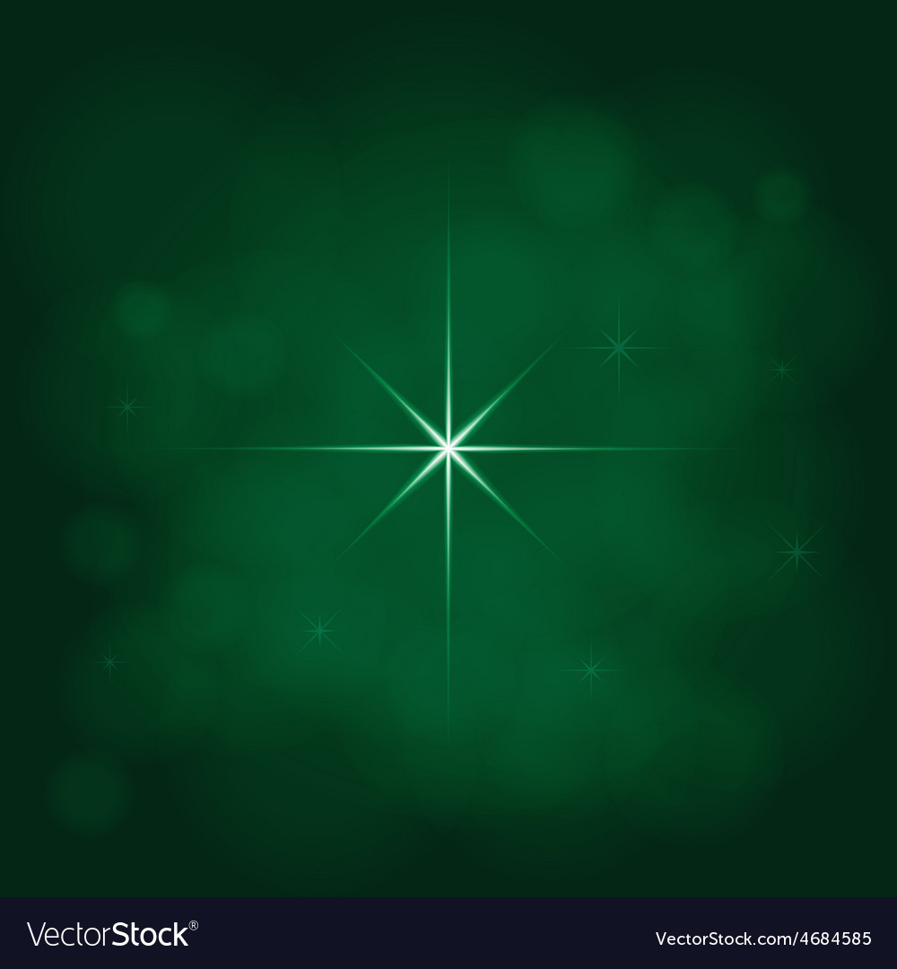 Abstract star magic light sky bubble blur green vector