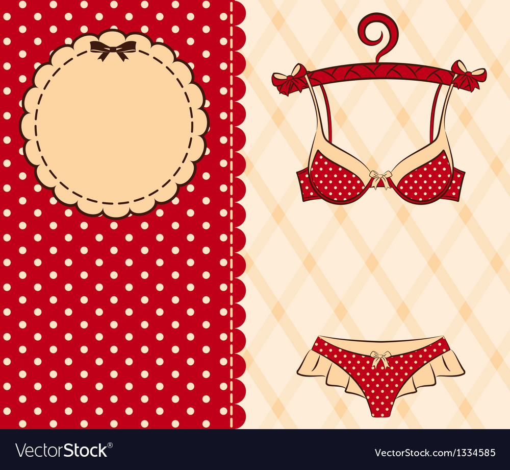 Beautiful lingerie vector
