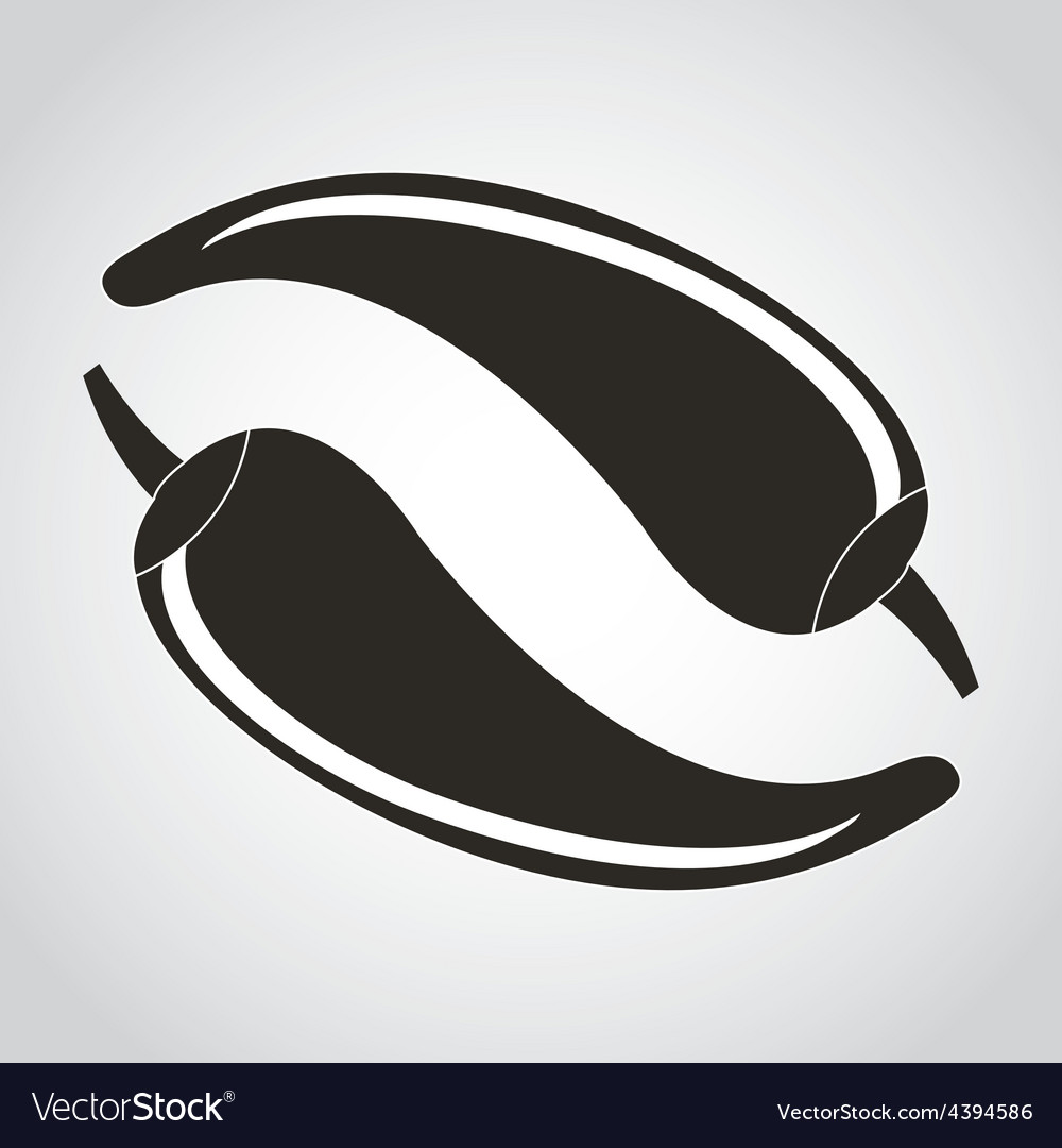 Chili icon vector