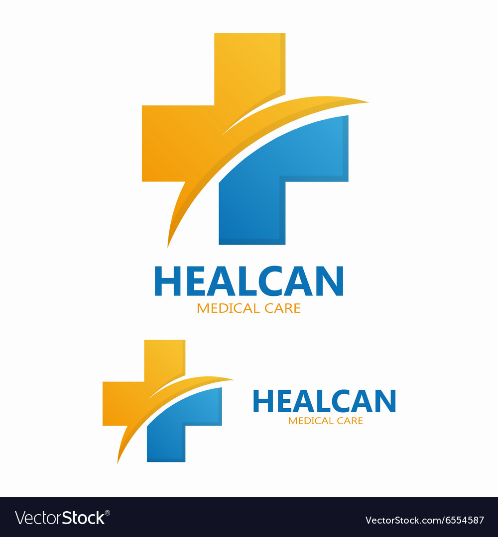 Abstract medical cross logo template vector
