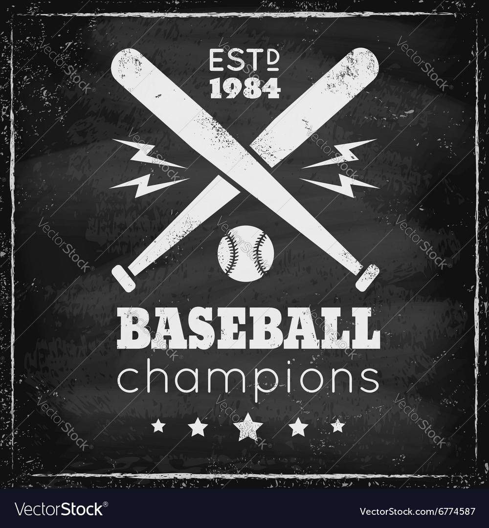 Baseball chalk vector
