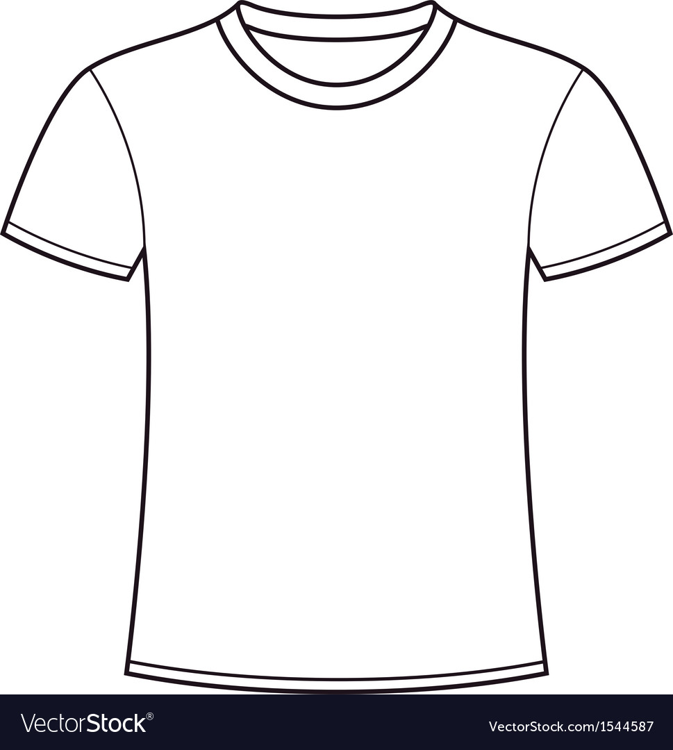 Blank white tshirt template vector