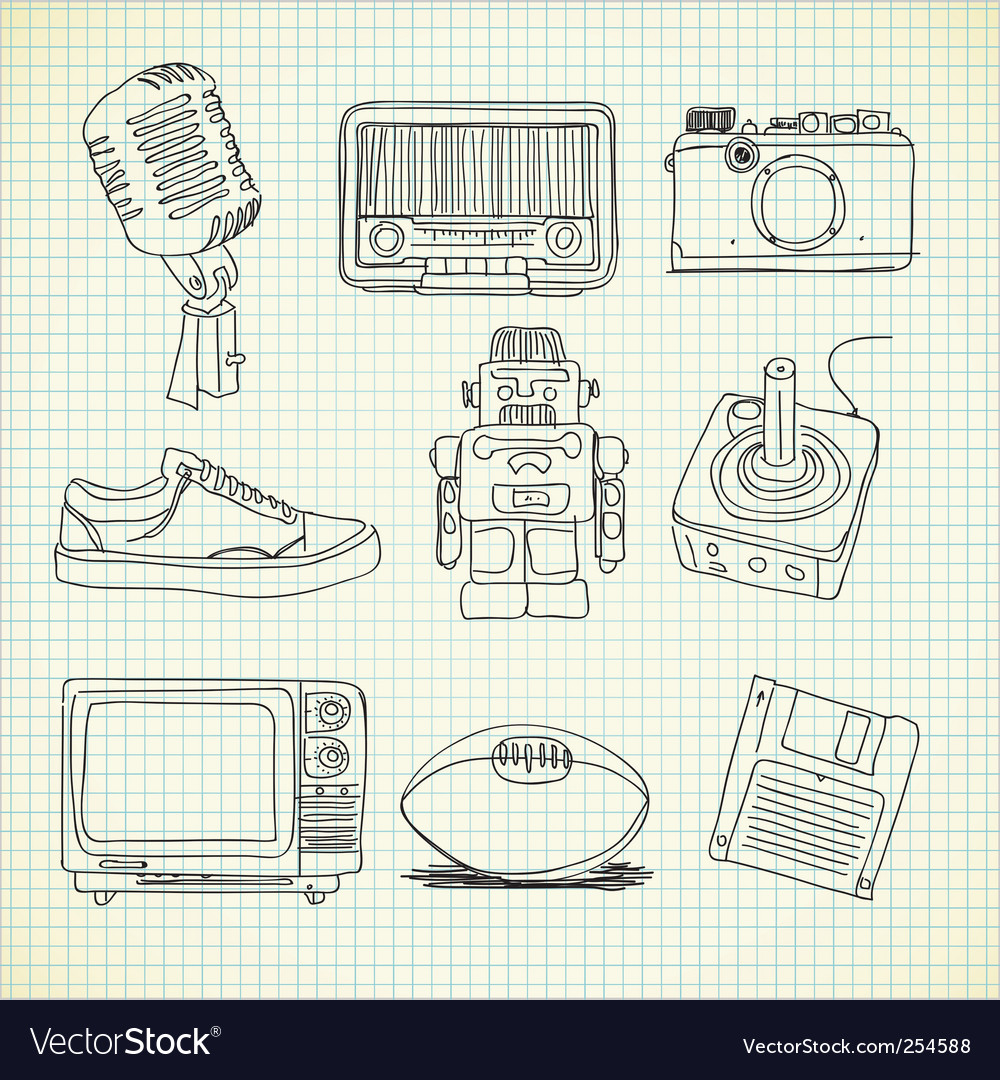 Retro stuff vector