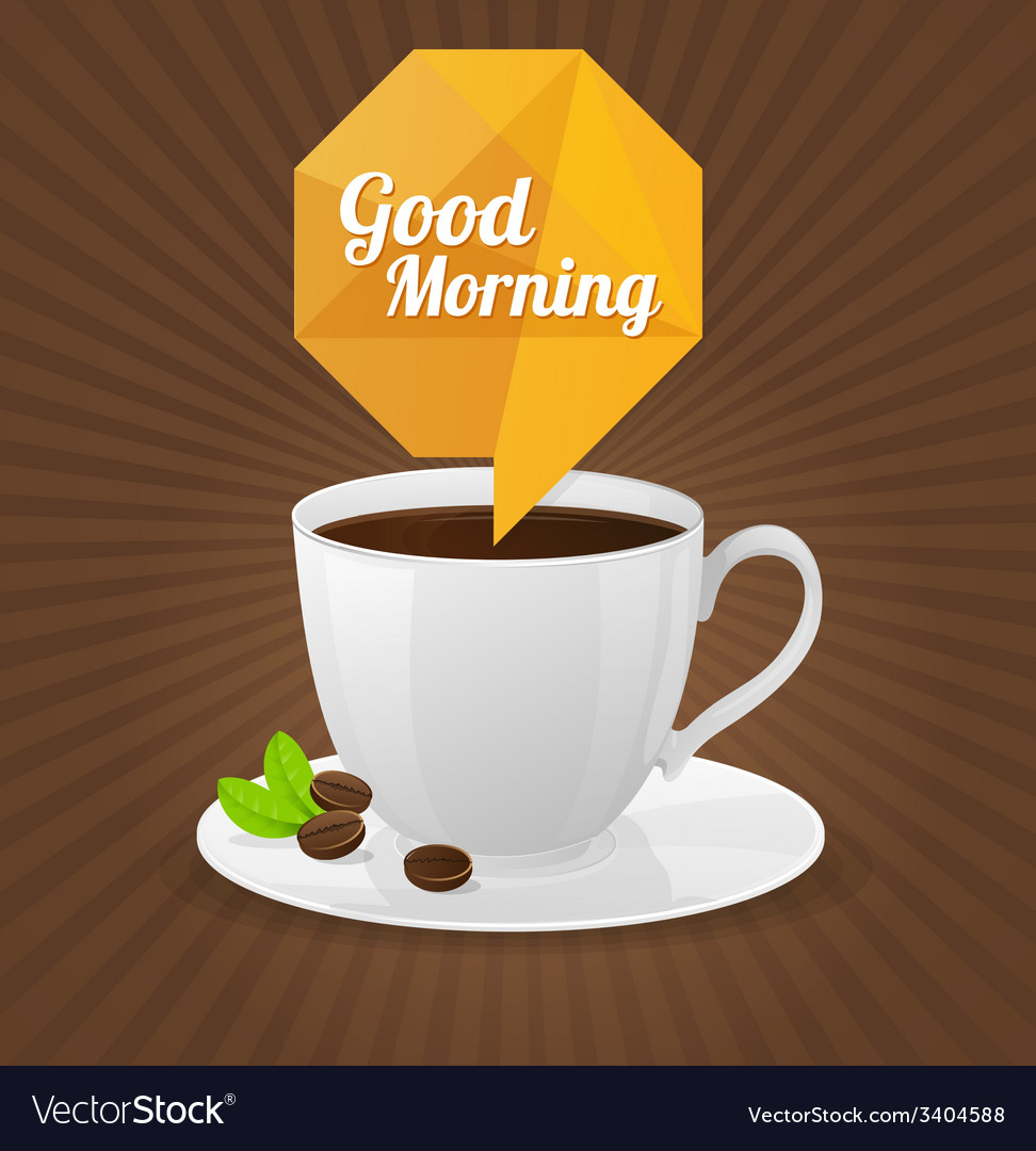 White coffee cup and text cloud vector