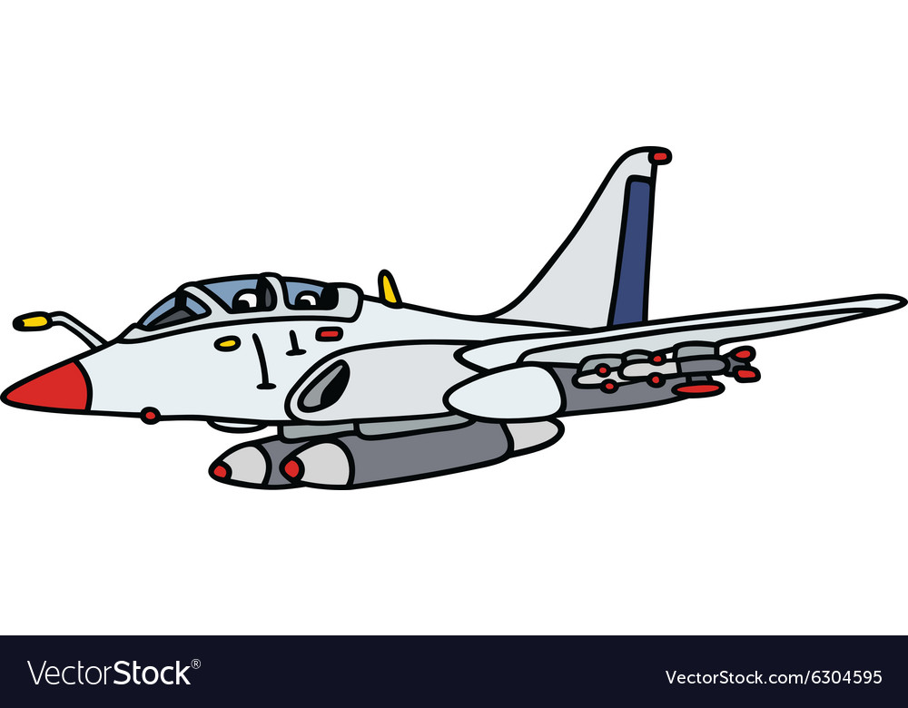 White jet aircraft vector