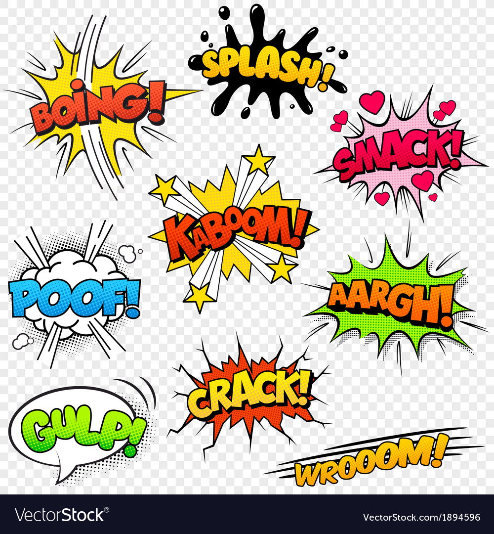 Comic sounds set2 vector