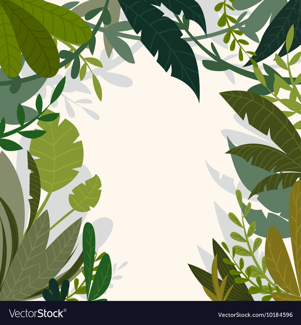Tropical jungle background with palm trees vector