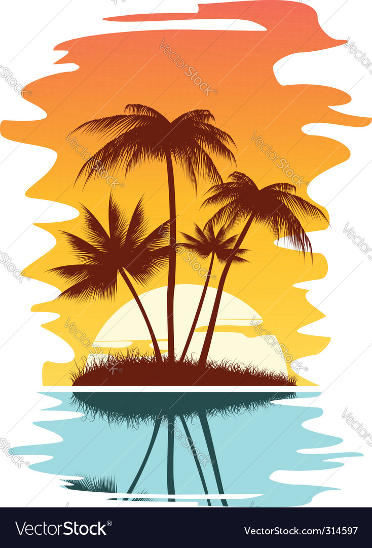 Tropical abstract background vector