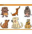 funny dog characters set vector image