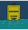 Flood zone vector image