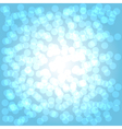 Bokeh blue vector image vector image