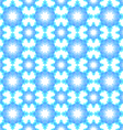 Abstract snowflake puzzled seamless pattern backgr vector