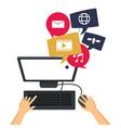 computer social media group icons vector image