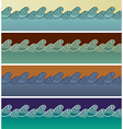 Wave seamless patterns vector image