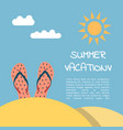 summer vacation beach vector image