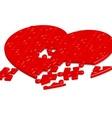 jigsaw heart2 vector image