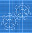 Cogs vector image