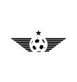 Football or soccer ball mockup sport logo design vector image vector image
