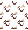 Seamless pattern of coffee cup with cream vector image vector image