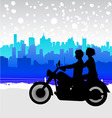 Motorcycle travel vector image
