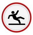 Wet Floor Warning Sign vector image