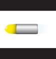 speeding metal bullet vector image vector image