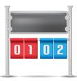 Score Board Analog Isolate Design vector image