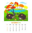 October vector image
