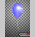 blue air balloon eps10 vector image